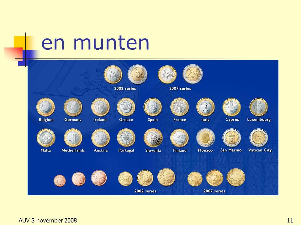 AUV 8 november 200811 en munten