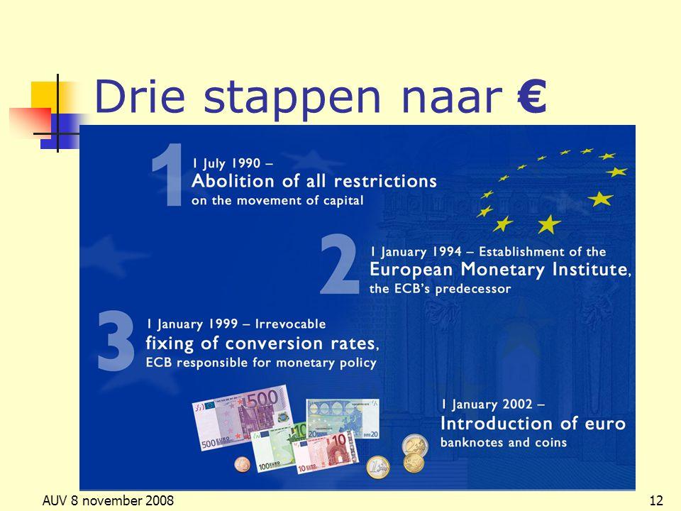 AUV 8 november 200812 Drie stappen naar €