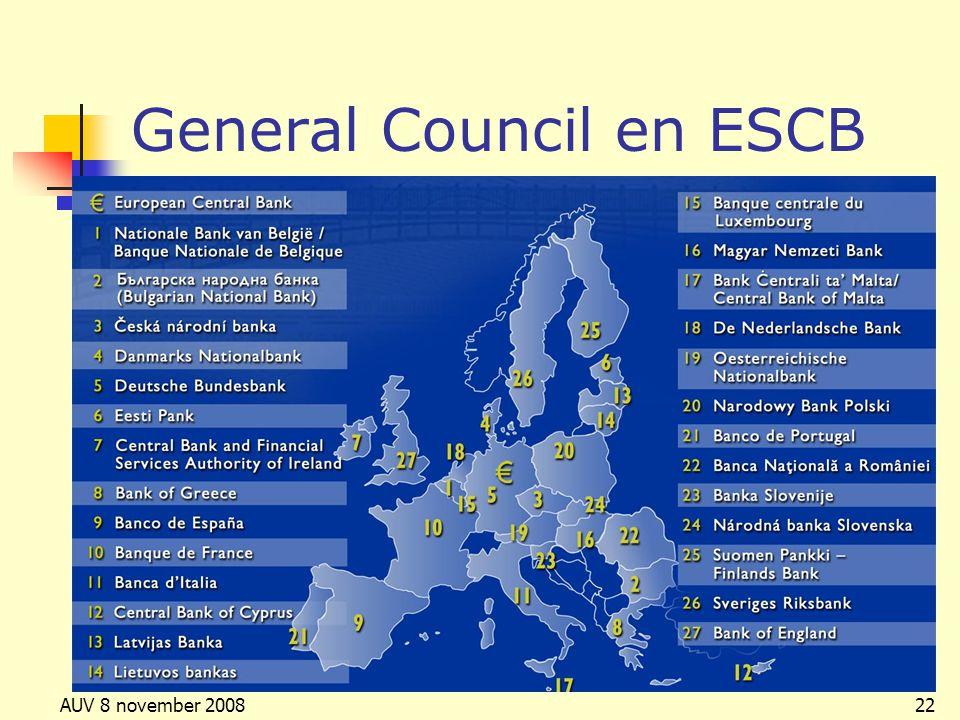 AUV 8 november 200822 General Council en ESCB