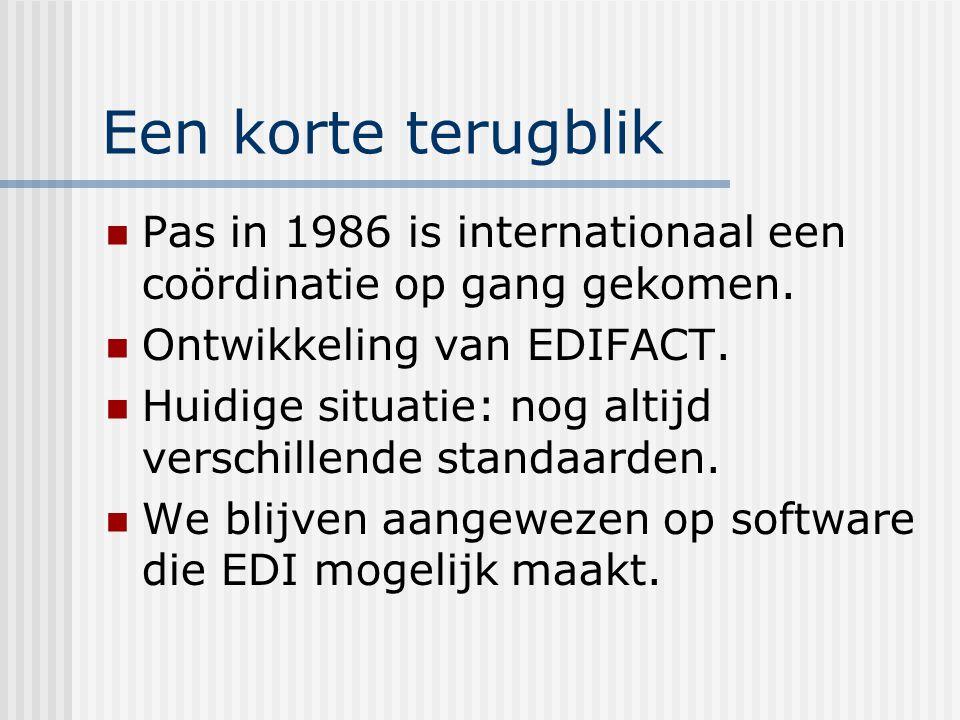 De basiselementen van EDI Berichtstandaarden Software die EDI mogelijk maakt Datatransmissie en netwerken