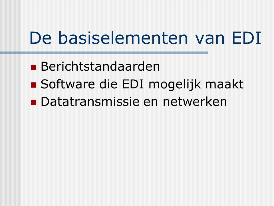 De basiselementen van EDI Standaarden: een gemeenschappelijke taal is te vinden in de EDI- berichtstandaarden.