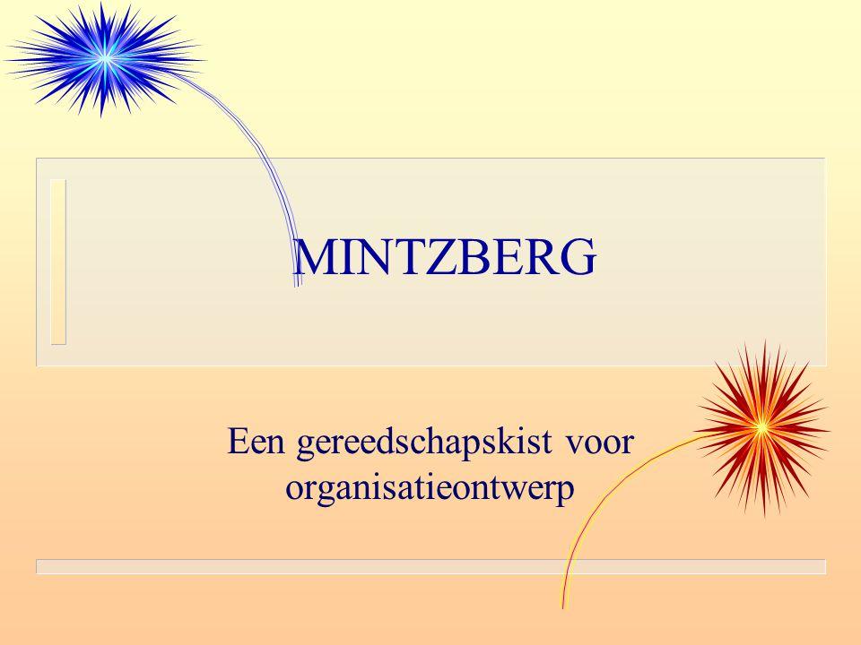 MINTZBERG Een gereedschapskist voor organisatieontwerp