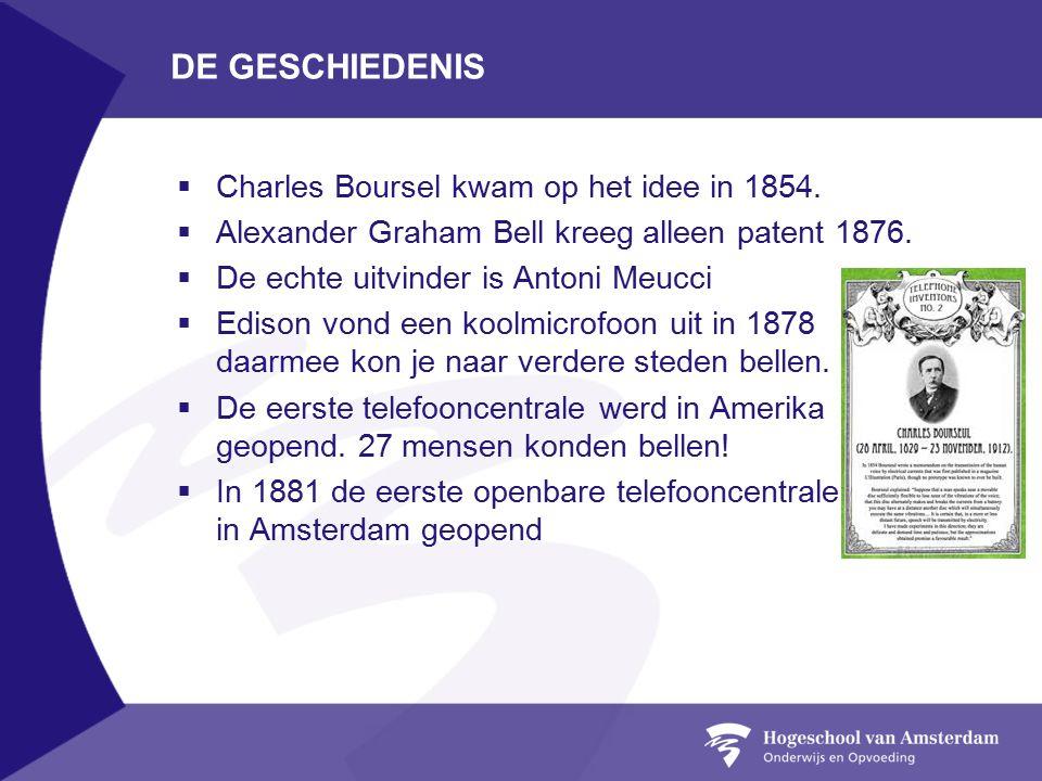DE GESCHIEDENIS  Charles Boursel kwam op het idee in 1854.