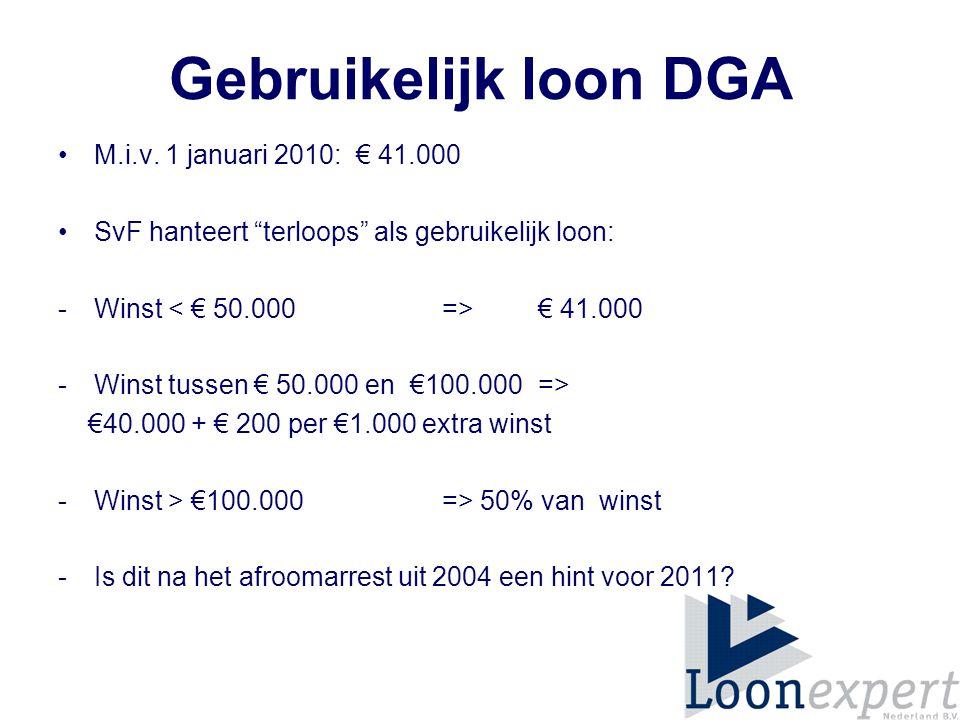 Gebruikelijk loon DGA M.i.v.