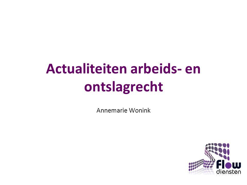 Actualiteiten arbeids- en ontslagrecht Annemarie Wonink