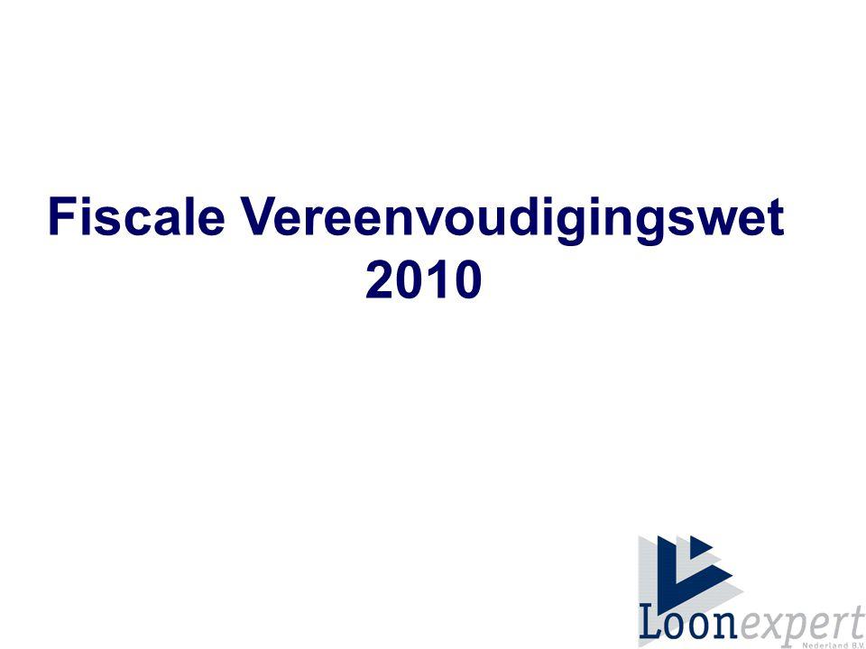 Fiscale Vereenvoudigingswet 2010