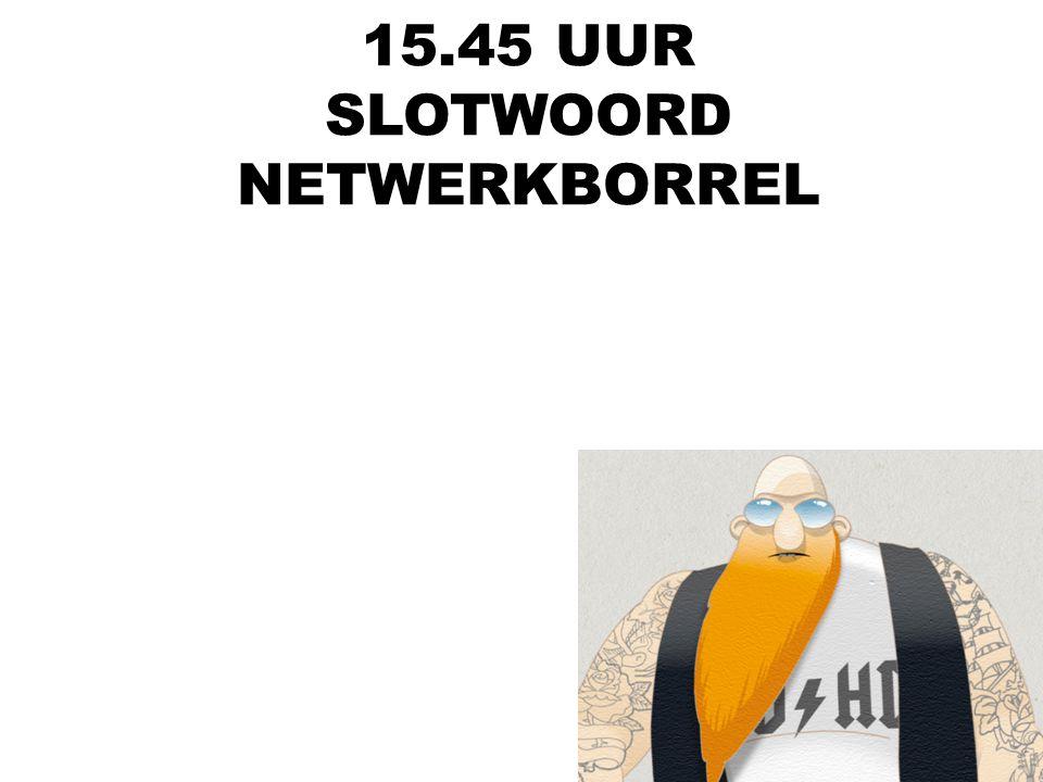 15.45 UUR SLOTWOORD NETWERKBORREL