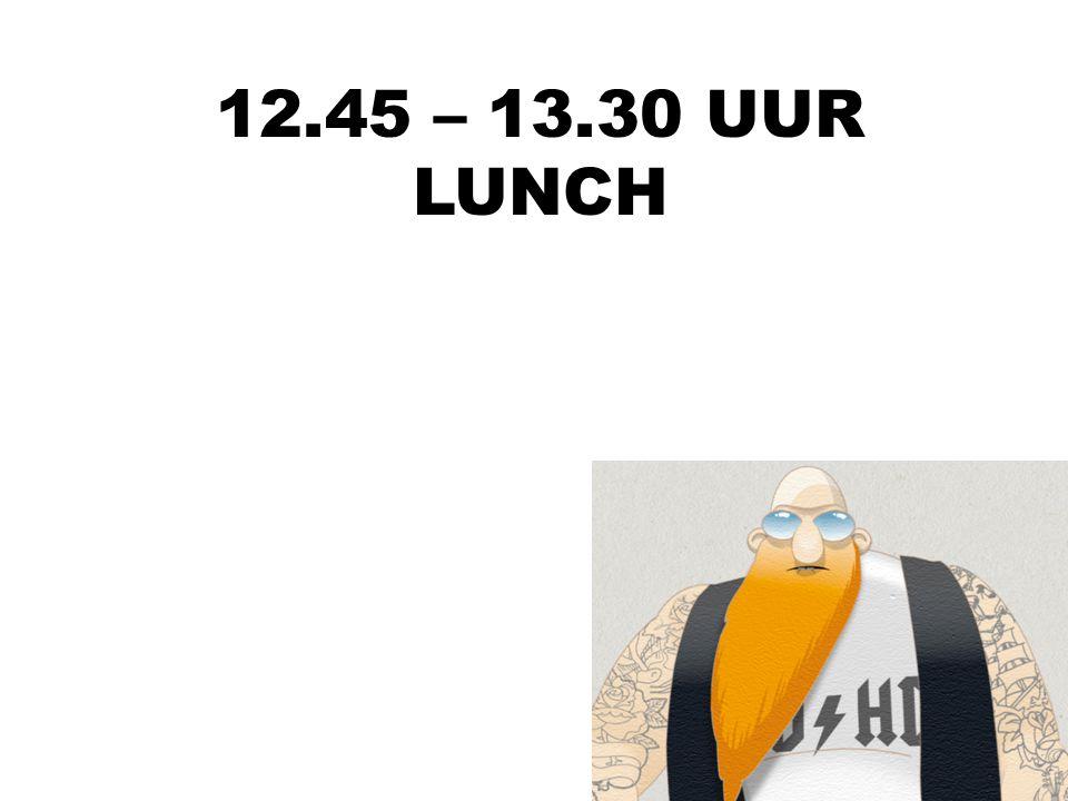 12.30 UUR PLENAIRE START