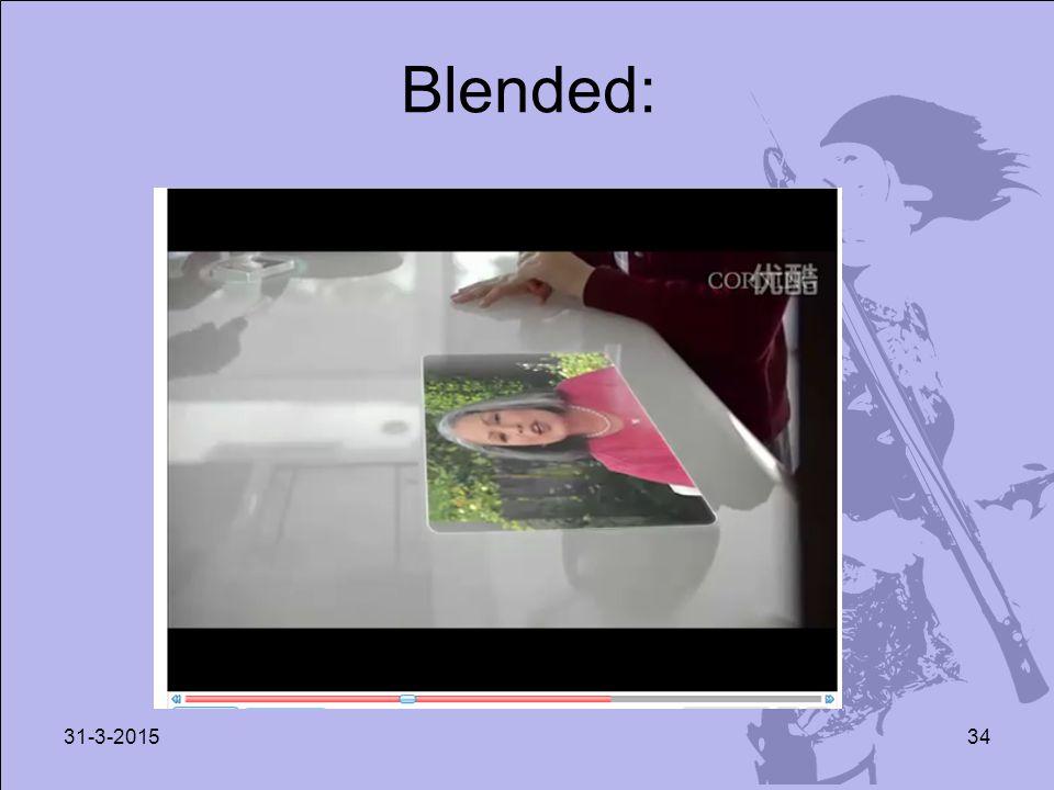 Blended: 31-3-201534