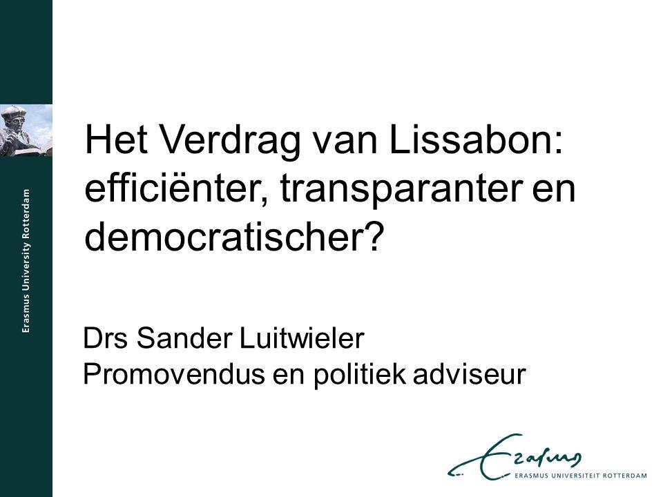 Het Verdrag van Lissabon: efficiënter, transparanter en democratischer.