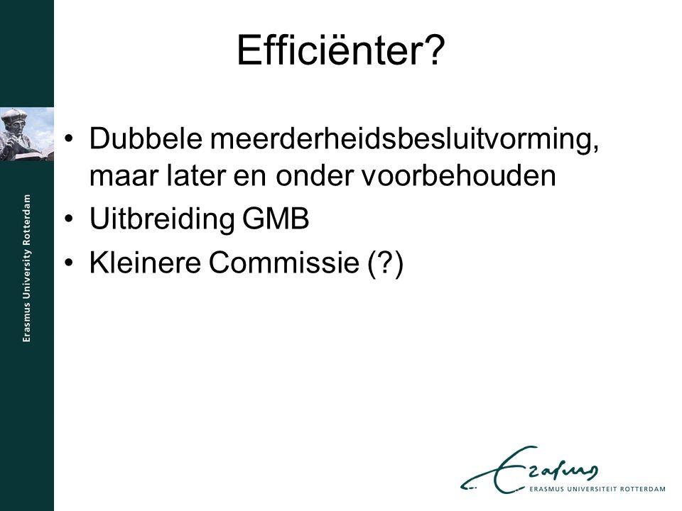 Efficiënter.