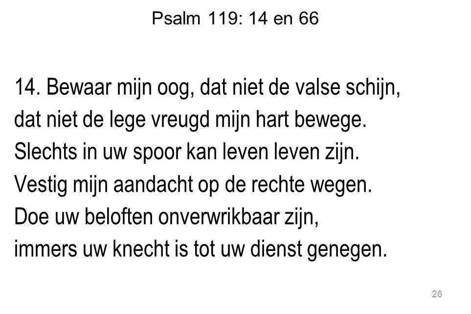 Psalm 119: 14 en 66 14.