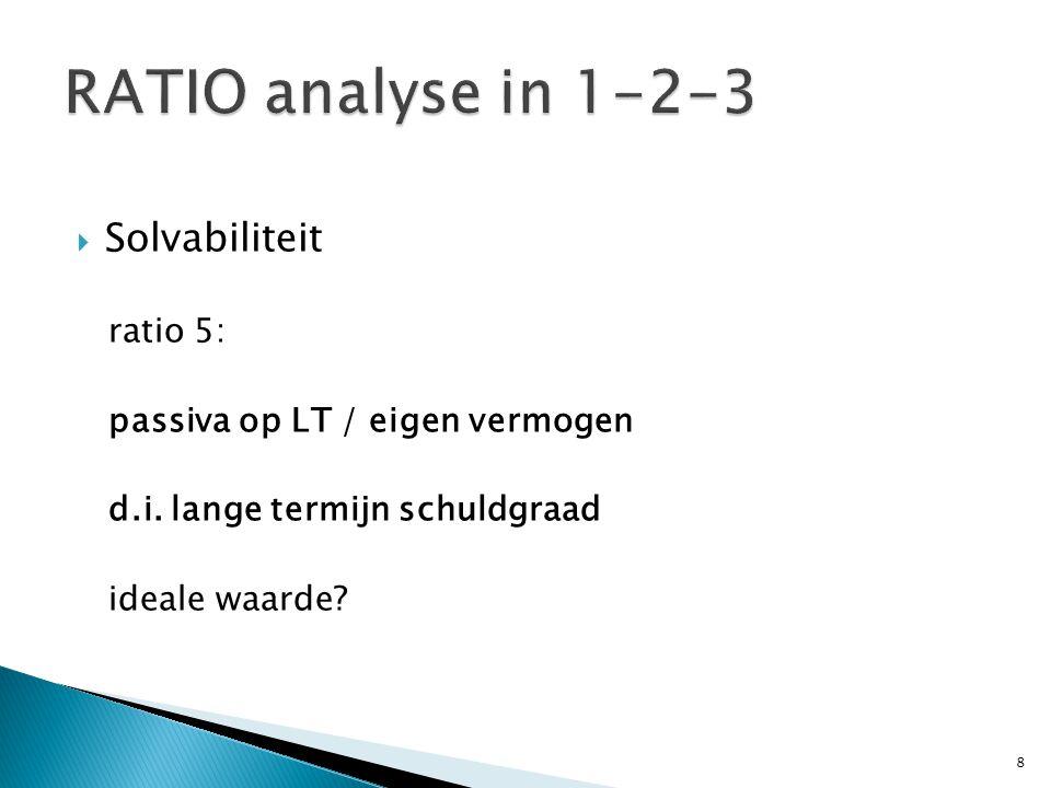  ICT OPDRACHT NA 5 RATIO's Je krijgt na deze slide 2 eenvoudige balansen.