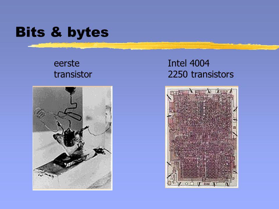 eerste transistor Intel 4004 2250 transistors