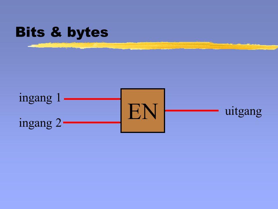 EN ingang 1 uitgang ingang 2 Bits & bytes