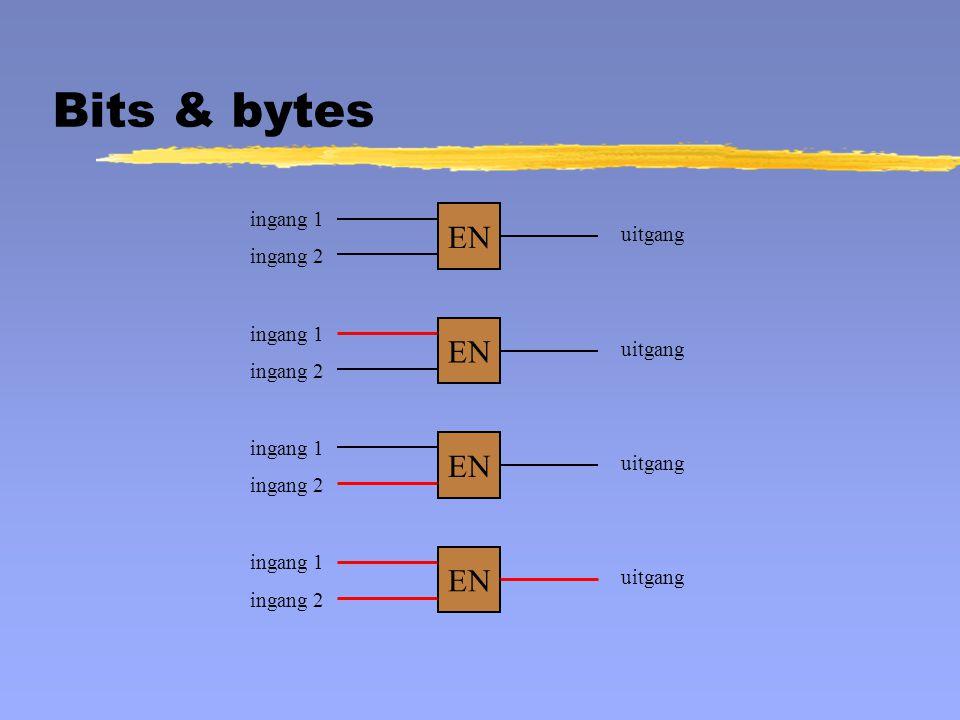 EN ingang 1 ingang 2 uitgang EN ingang 1 ingang 2 uitgang EN ingang 1 ingang 2 uitgang EN ingang 1 ingang 2 uitgang Bits & bytes