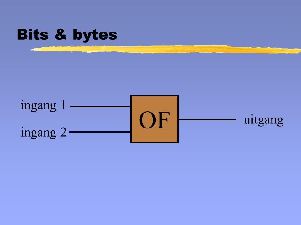OF ingang 1 uitgang ingang 2 Bits & bytes