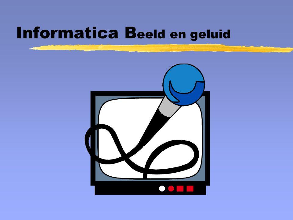 Informatica B eeld en geluid