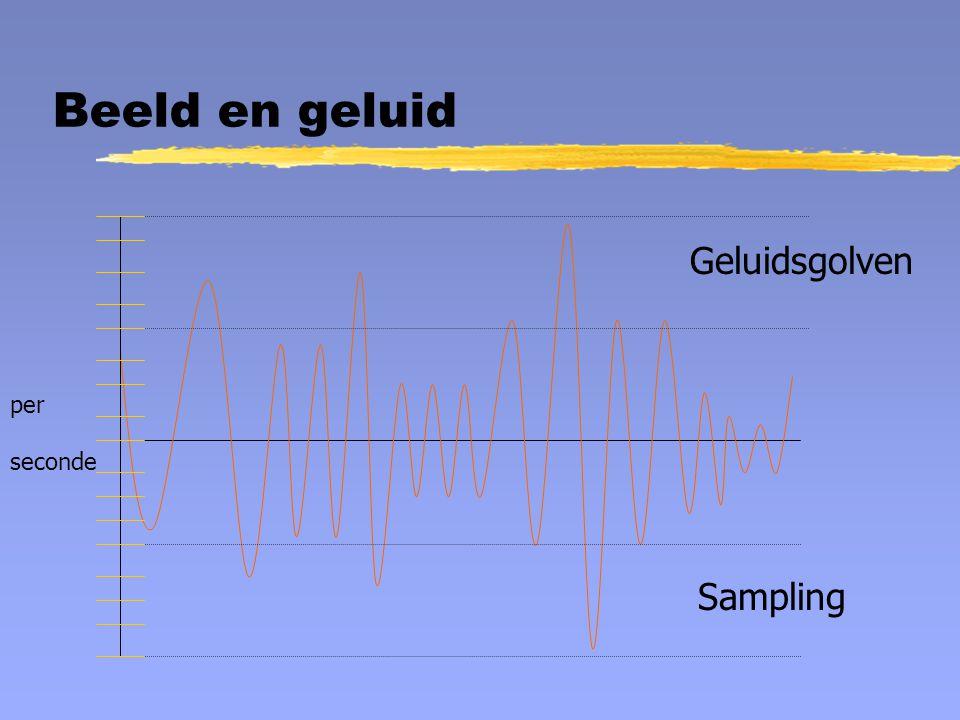 Beeld en geluid Geluidsgolven per seconde Sampling
