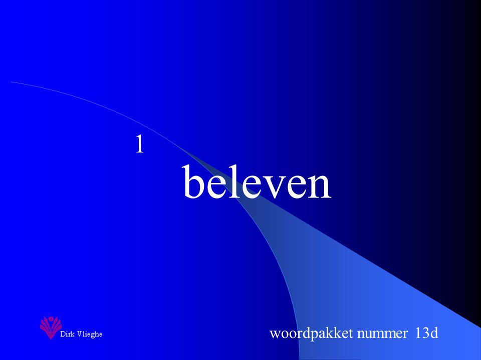 woordpakket nummer 13d Je zorgt voor een vulpen en een groene balpen. Je ziet de woorden van het woordpakket gedurende 3 seconden. Je hebt 10 seconden