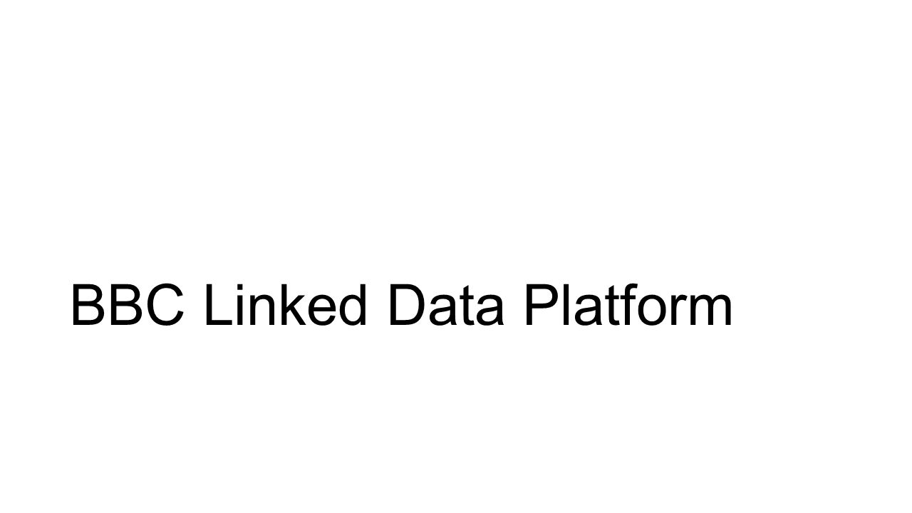 BBC Linked Data Platform