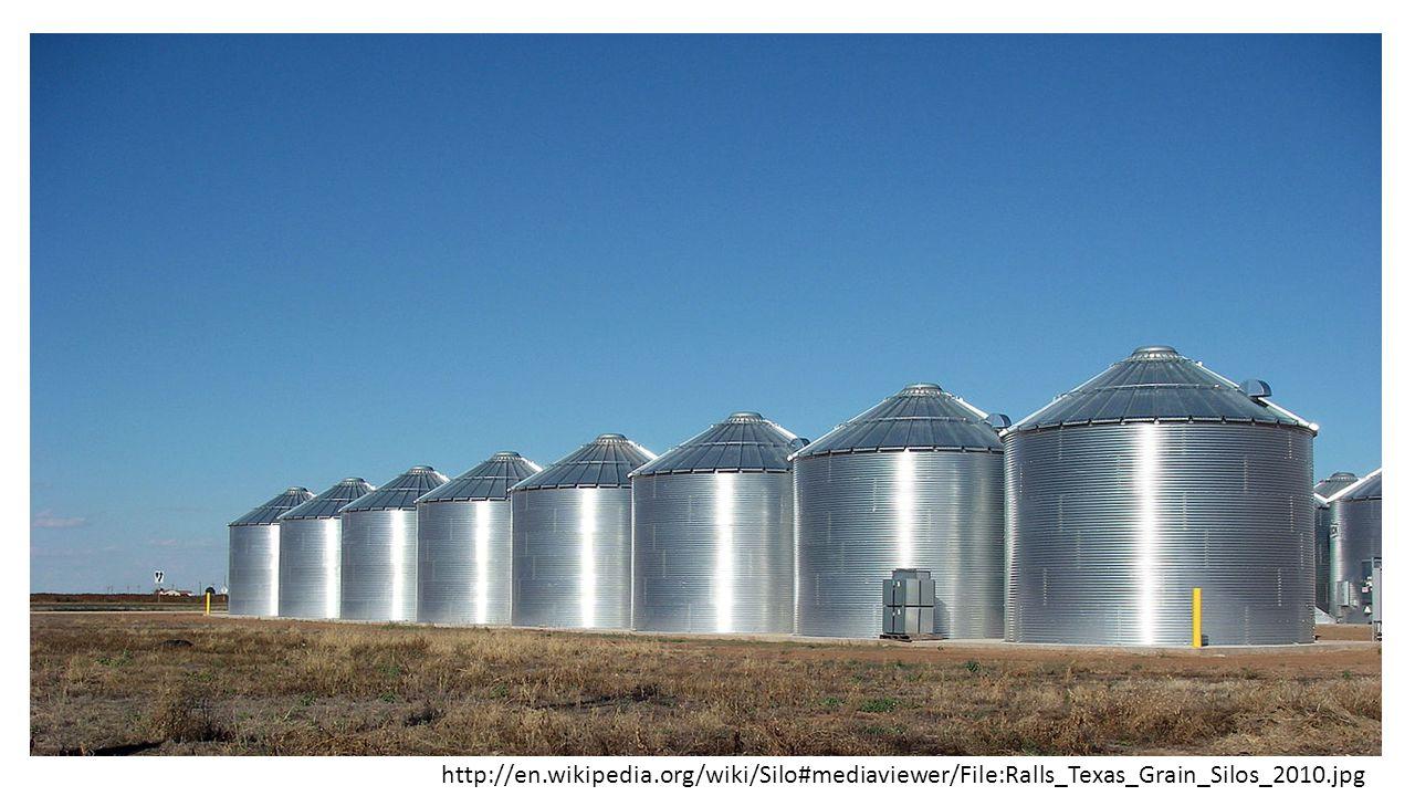 http://en.wikipedia.org/wiki/Silo#mediaviewer/File:Ralls_Texas_Grain_Silos_2010.jpg