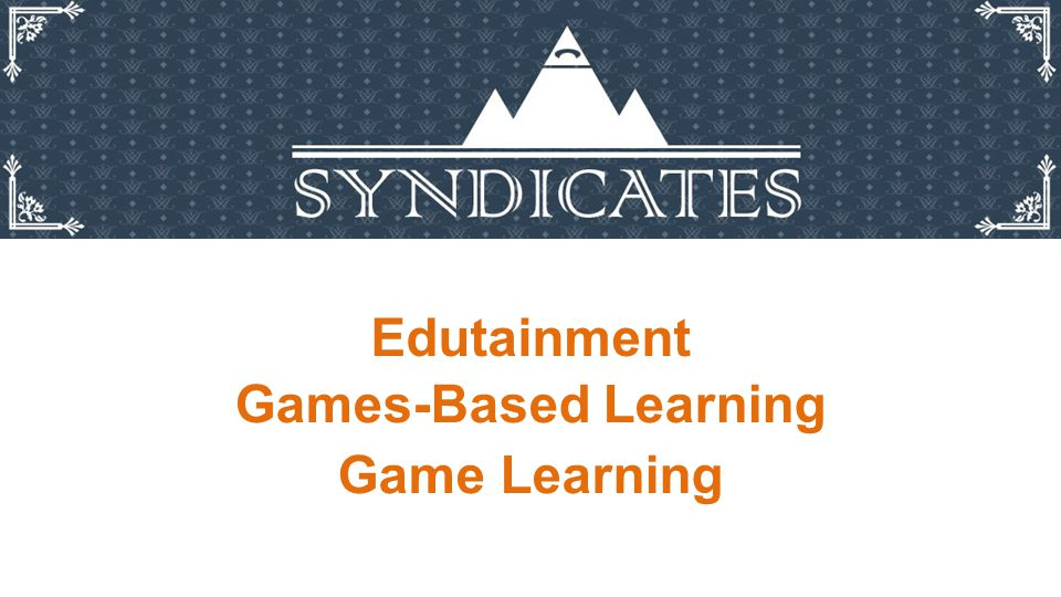 Edutainment Games-Based Learning Game Learning