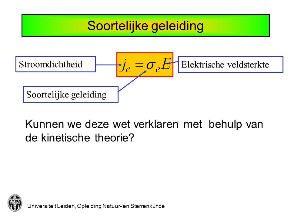 Universiteit Leiden, Opleiding Natuur- en Sterrenkunde Kunnen we deze wet verklaren met behulp van de kinetische theorie.