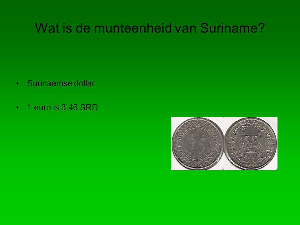 Wat is de munteenheid van Suriname? Surinaamse dollar 1 euro is 3,46 SRD