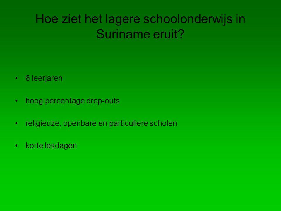Hoe ziet het lagere schoolonderwijs in Suriname eruit.