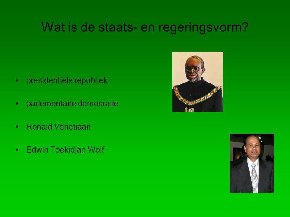 Wat is de staats- en regeringsvorm.