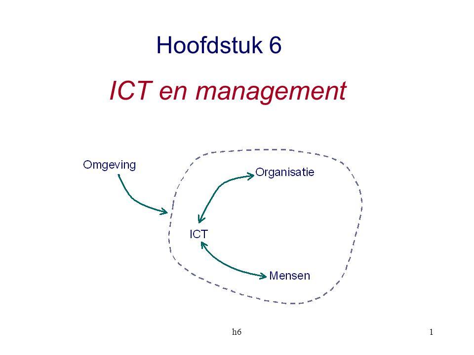 h612 Functionele afdelingen Algemeen management ICT bij één afdeling