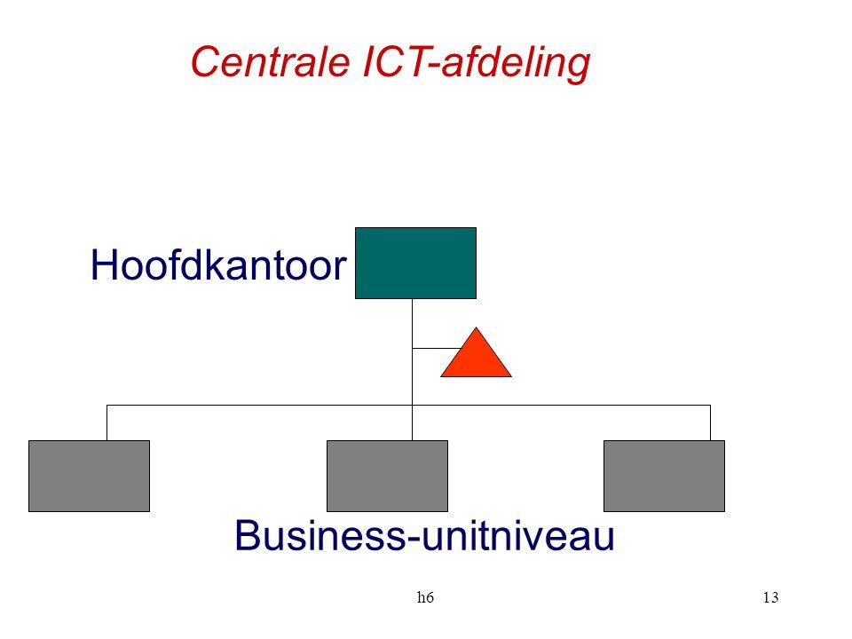 h613 Business-unitniveau Hoofdkantoor Centrale ICT-afdeling