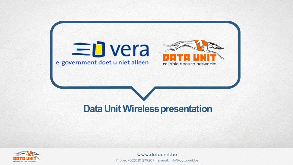 Data Unit Wireless presentation