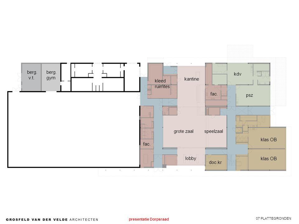 07 PLATTEGRONDEN klas OB psz kdv kantine speelzaalgrote zaal lobby kleed ruimtes fac.