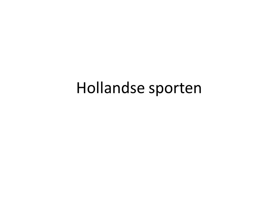 Hollandse sporten