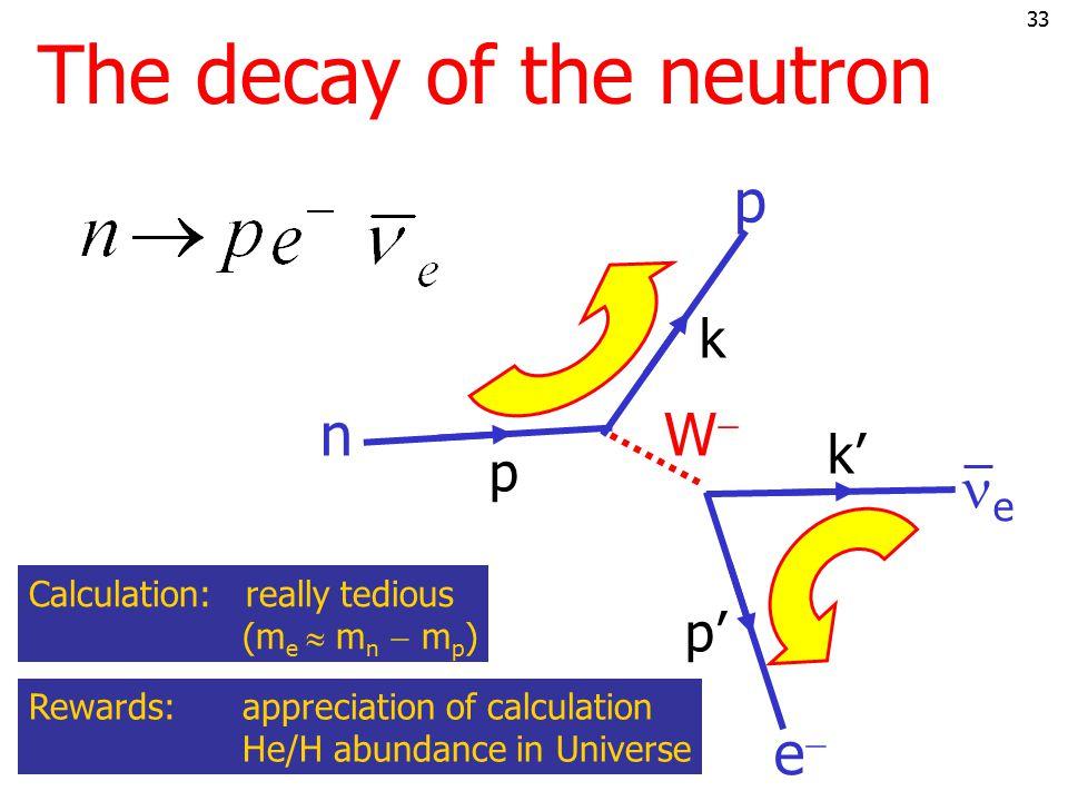 32 Neutron- &  -decay