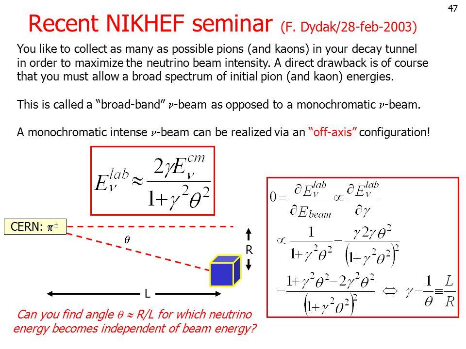 46 Zijn e,  en  werkelijk verschillend? 1962:  -bundel op een target: wel:  + p    + X niet:  + p  e  + X  90's:  -bundel op een target: w