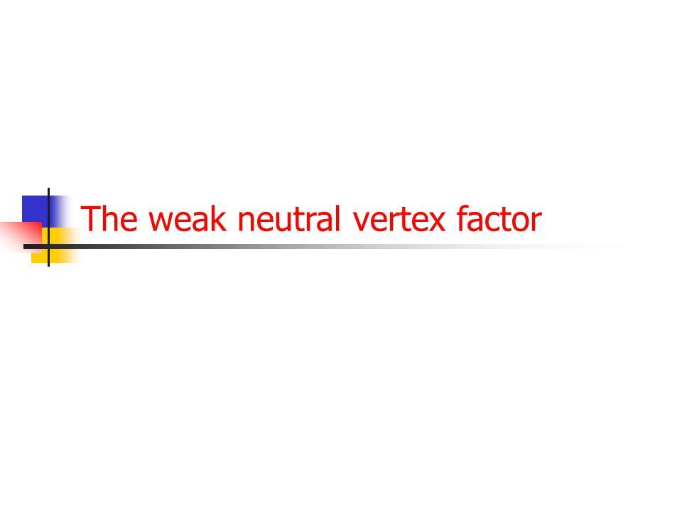 66 Vertex term neutral stroom  e    e  e e   e e  +1.0 cAcA cVcV  1.0  2.0 Twee sets oplossingen:  c V  0 en en c A   0.5  c V   0.5