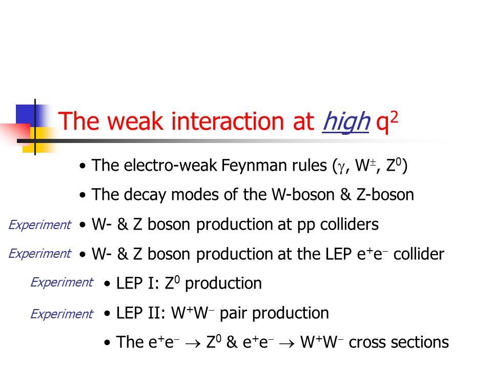 68 Elektro-zwakke wisselwerking (later) Volgende week zullen we de elektro-magnetische wisselwerking (QED) integreren met de zwakke wisselwerking. Het