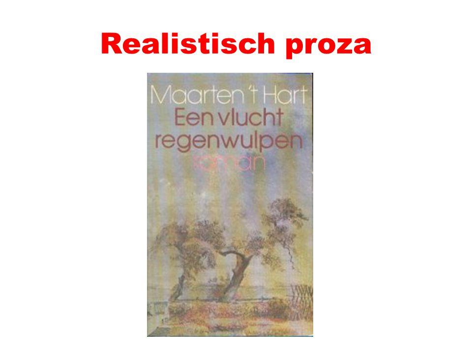 Toegankelijke romans Tegen experiment Traditionele vertelwijze, realistische details en levendige dialoog Hernieuwde belangstelling ik en leven van alledag Bijv.: Maarten 't Hart, Een vlucht regenwulpen (1978)