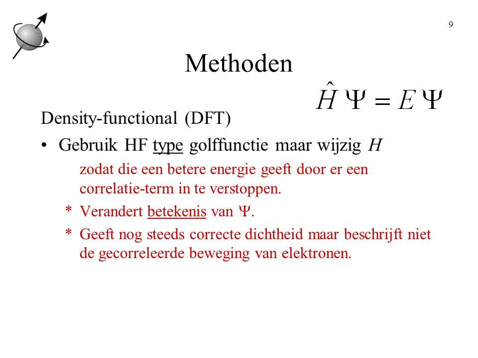 30 Lading, multipliciteit Atomen, (symbolische) coordinaten Waarden voor symbolische coordinaten