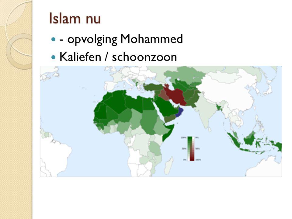 Islam nu - opvolging Mohammed Kaliefen / schoonzoon