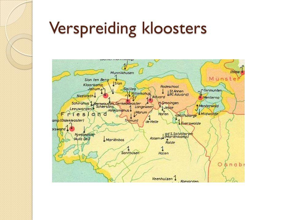 Verspreiding kloosters