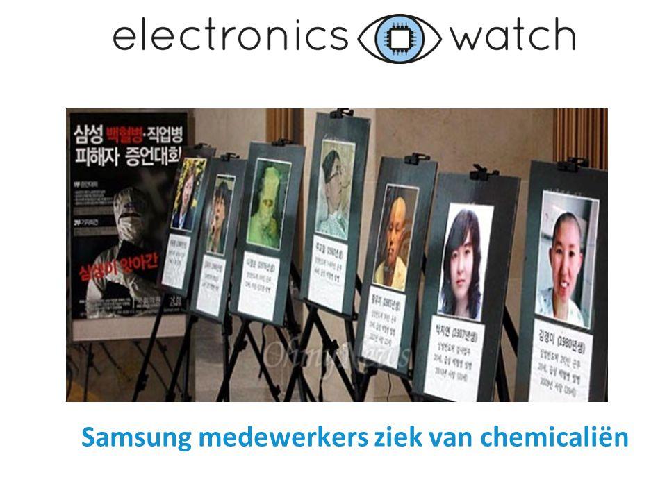 Samsung medewerkers ziek van chemicaliën