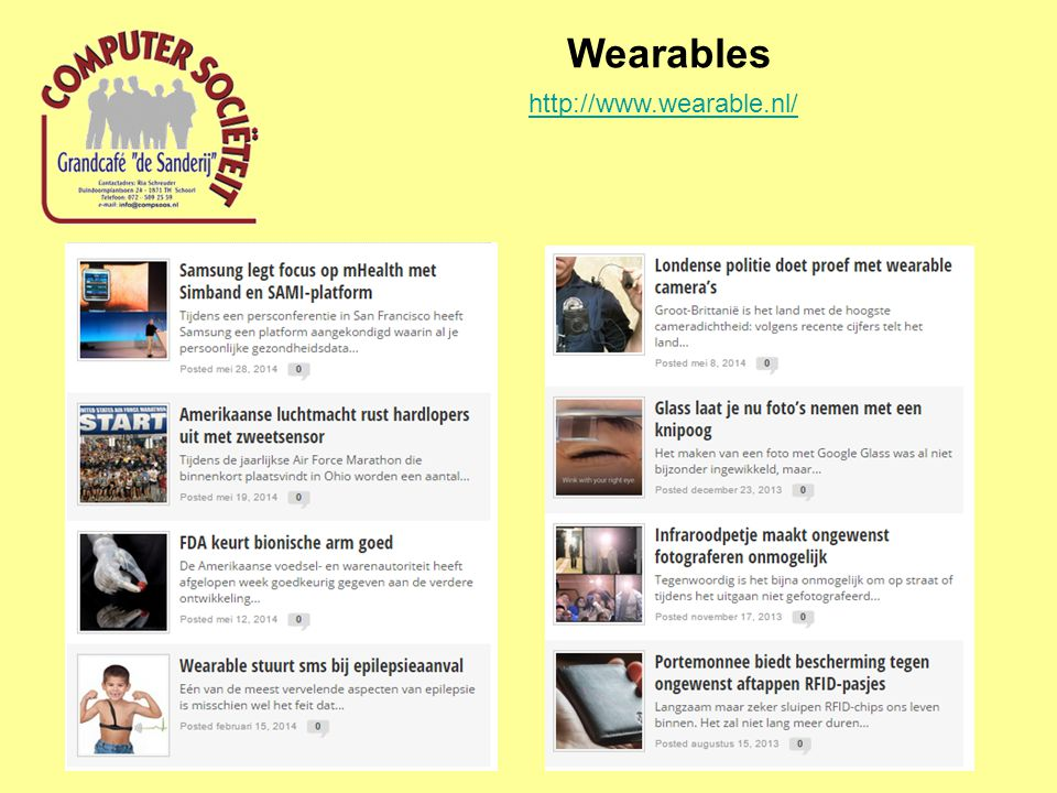 Wearables http://www.wearable.nl/