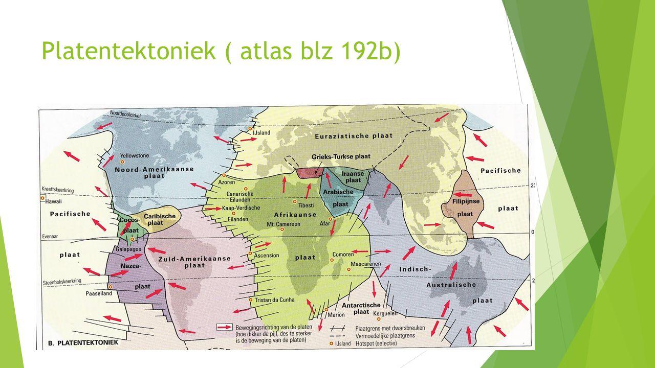 Platentektoniek ( atlas blz 192b)