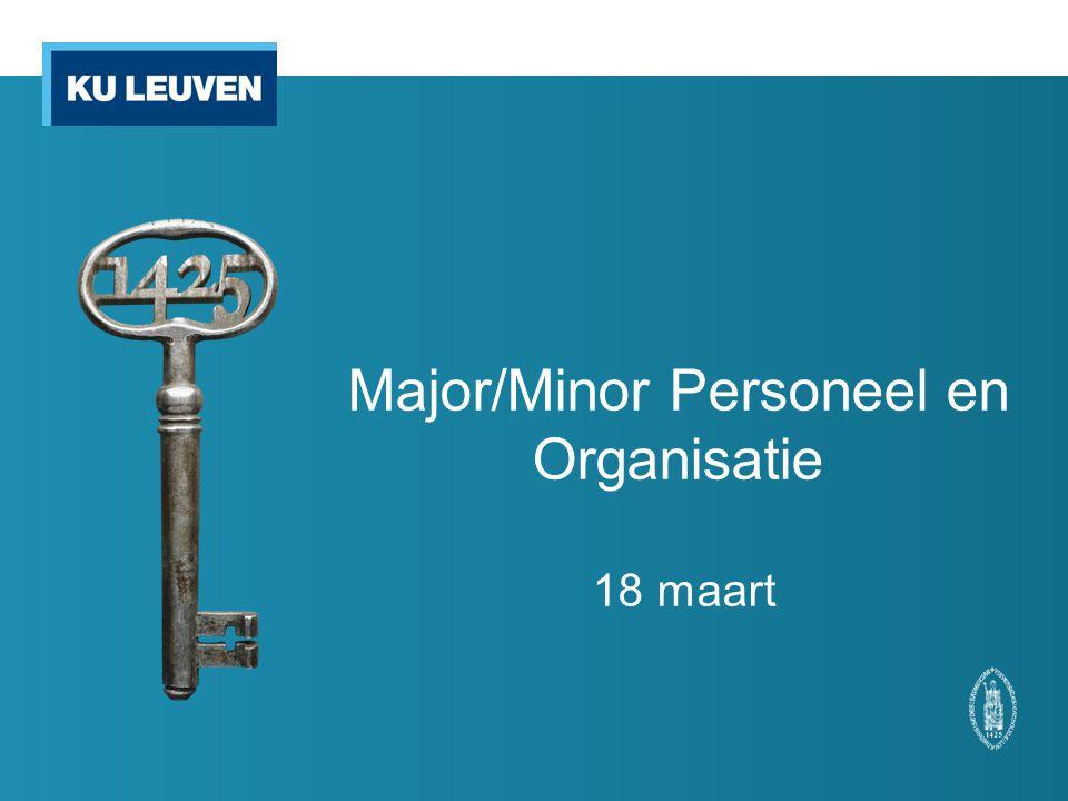 Major/Minor Personeel en Organisatie 18 maart
