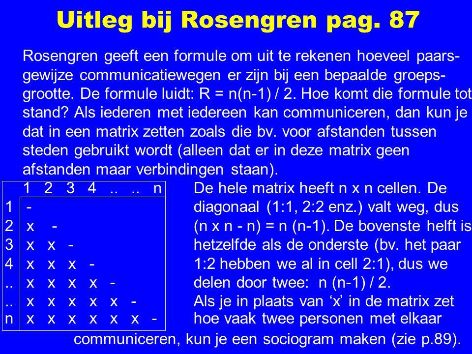 Uitleg bij Rosengren pag.