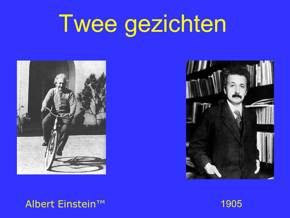 Einstein's leven tot 1905 1879: geboren in Ulm, Duitsland 1880: verhuist naar München 1888: gymnasium 1894: familie verhuist naar Milaan ETH, Zürich 1898: Mileva Maric 1900: onderwijzer wiskunde en natuurkunde 1896: